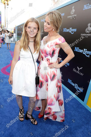 """Catherine Rose Young and Cheryl Hines seen at EuropaCorp Presents the World Premiere of """"Nine Lives"""" at TCL Chinese Theatre, in Los Angeles"""