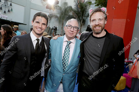 """Robbie Amell, Director Barry Sonnenfeld and Teddy Sears seen at EuropaCrop Presents the World Premiere of """"Nine Lives"""" at TCL Chinese Theatre, in Los Angeles"""