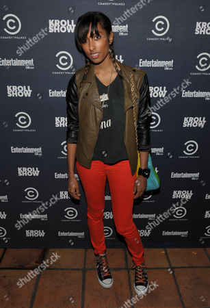 """Stock Picture of Singer/songwriter Anjulie Persaud attends an exclusive screening of Comedy Central's """"Kroll Show"""" hosted by Entertainment Weekly on at LA's Silent Movie Theatre in Los Angeles"""