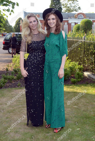 Chloe Hayward and Talulah Lennox arrive at the 'Fashion Rules' Exhibition launch at Kensington Palace in London on