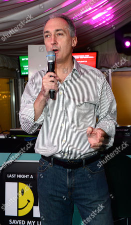 Stock Image of Mike Weatherley MP in the Terrace Bar as Fatboy Slim plays the House of Commons for Last Night A DJ Saved My Life Foundation. London