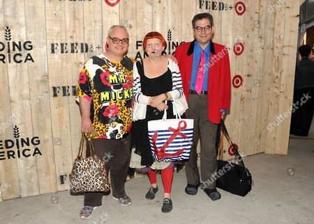 Mickey Boardman, left, Lynn Yaeger and Michael Musto attend the FEED USA Target launch event on in New York