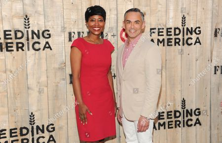 Laysha Ward and Rick Gomez attends the FEED USA Target launch event on in New York