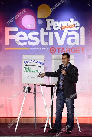 Marco Antonio Regil onstage at the Festival People en Espanol 2013, on at Henry B. Gonzalez Convention Center in San Antonio, Texas