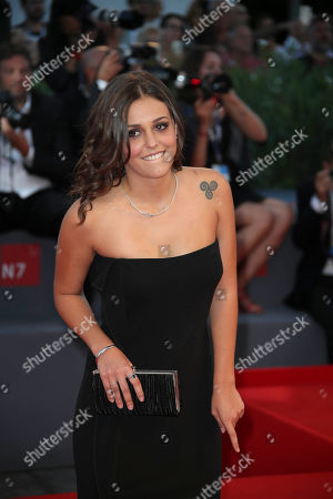 Actress Elena Bellocchio poses for photographers on the red carpet for the film Sangue Del Mio Sangue (Blood of my blood), at the 72nd edition of the Venice Film Festival in Venice, Italy, . The 72nd edition of the festival runs until Sept. 12