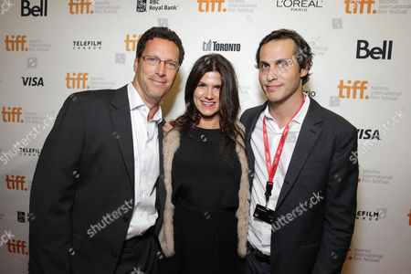 Focus Features' Andrew Karpen, Producer Robbie Brenner and President of Production at Focus Features Jeb Brody seen at Focus Features 'Dallas Buyers Club' Premiere at 2013 TIFF presented by Audi, on Saturday, Sep, 7, 2013 in Toronto