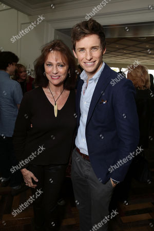Jacqueline Bissett and Eddie Redmayne seen at Focus Features 'The Danish Girl' Brunch hosted by Anne Hathaway and Dustin Lance Black, in Beverly Hills, CA
