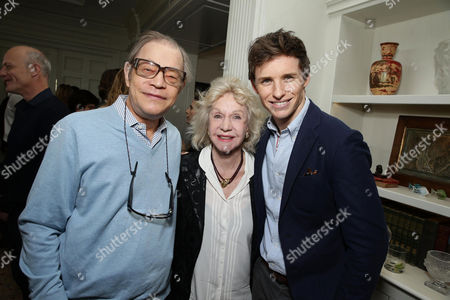 Michael York, Pat York and Eddie Redmayne seen at Focus Features 'The Danish Girl' Brunch hosted by Anne Hathaway and Dustin Lance Black, in Beverly Hills, CA