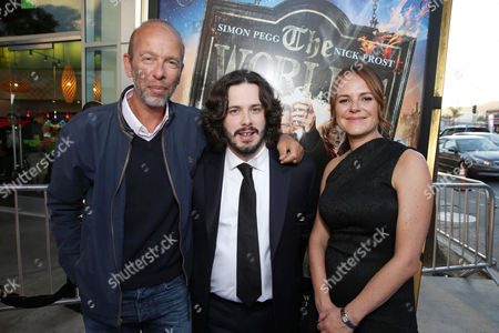 Producer Eric Fellner, Director/Writer Edgar Wright and Producer Nira Park seen at Focus Features Los Angeles Premiere of 'The World's End', on Wednesday, August, 21, 2013 in Los Angeles