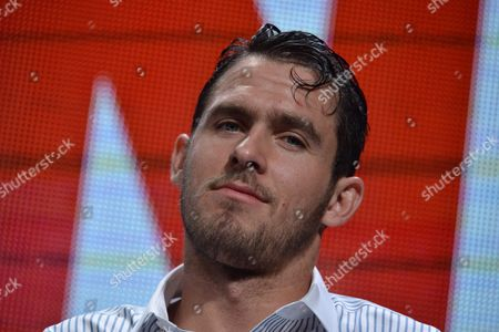 Jack Kesy on stage during the The Strain panel at the The FX 2014 Summer TCA held at the Beverly Hilton Hotel, in Beverly Hills, Calif