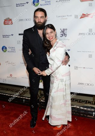 Ally Hilfiger and husband Steve Hash attend the Global Lyme Alliance Inaugural Gala at Cipriani 42nd Street, in New York