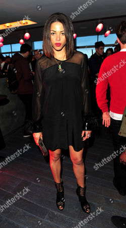 Ana Araujo arrives at the Goji Tinchy Stryder: On Cloud 9 Launch Event for his Goji headphones and audio accessories range available exclusively at Currys and PC World at Paramount, Center Point, on in London