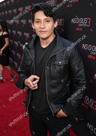 "Stock Image of Carlos Pratts seen at Gramercy Pictures presents the world premiere of ""Insidious: Chapter 3"" held at TCL Chinese Theatre, in Hollywood"