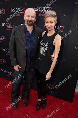 """Stock Image of Neil Marshall and Axelle Carolyn seen at Gramercy Pictures presents the world premiere of """"Insidious: Chapter 3"""" held at TCL Chinese Theatre, in Hollywood"""