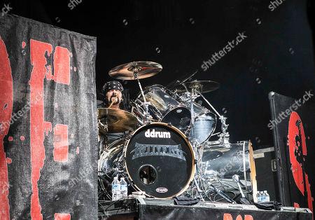 Vinnie Paul with Hellyeah performs at the Tabernacle, in Atlanta