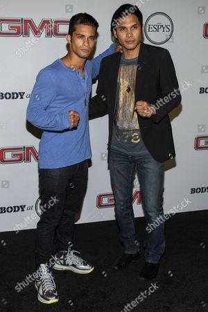 Stock Image of Actor Hector David (L) and Steven Skyler at the Body at ESPYS Party sponsored by Hennessy V.S on at Lure in Los Angeles, CA