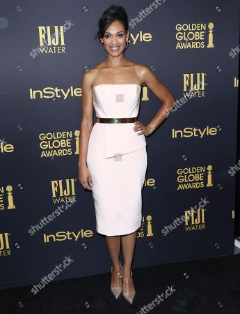 Cynthia Addai-Robinson arrives at the HFPA and InStyle celebration for the 2017 Golden Globe awards season at Catch LA, in West Hollywood, Calif