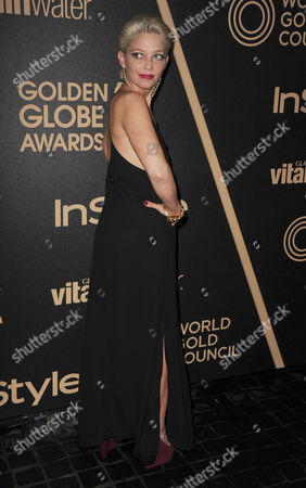 Amanda Detmer attends HFPA and InStyle's Golden Globe award season celebration at Cecconi's, in West Hollywood