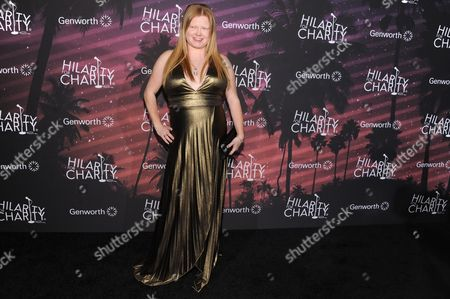 Charlotte Larsen arrives at the Hilarity For Charity 3rd Annual Los Angeles Variety Show, in Los Angeles