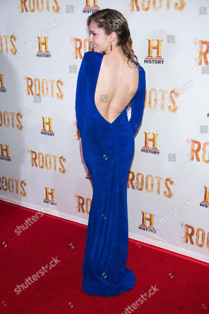 """Shannon Lucio attends History Channel's """"Roots"""" mini-series premiere at Alice Tully Hall, in New York"""