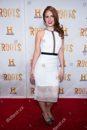 """Amy Halldin attends History Channel's """"Roots"""" mini-series premiere at Alice Tully Hall, in New York"""