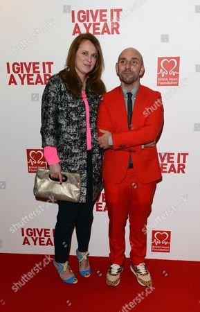 Daisy Donovan, left, and Dan Mazer seen at the European premiere of I Give It A Year at the Vue West End, in London