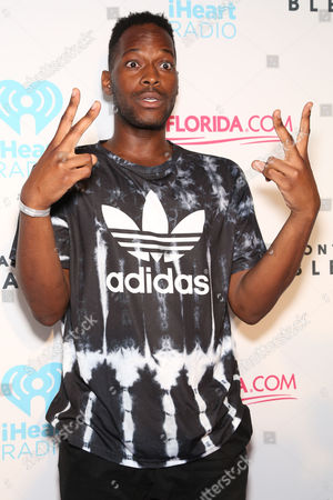 Zebra Katz arrives at the iHeartRadio Ultimate Pool Party Presented by Visit Florida on at the Fontainebleau Miami Beach in Miami Beach, Fl