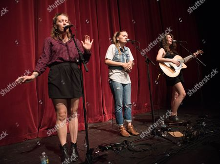 Allison Closner, from left, Meegan Closner, and Natalie Closner of Joseph open up for James Bay performs at The Fillmore on in Miami Beach, Fla