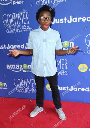 Jaheem Toombs attends Just Jared Jr.'s Fall Fun Day celebrating Season 2 of Amazon Prime's 'Gortimer Gibbon's Life on Normal Street', in Los Angeles
