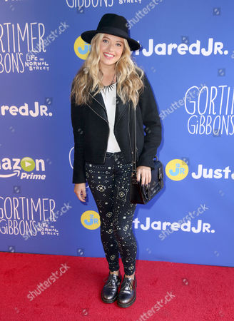 "Lauren Taylor attends Just Jared Jr.'s Fall Fun Day celebrating Season 2 of Amazon Prime's ""Gortimer Gibbon's Life on Normal Street"", in Los Angeles"