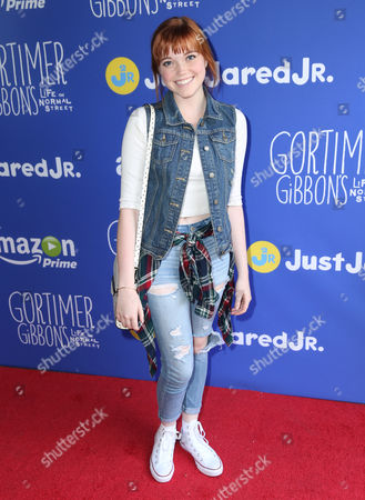 """Stock Picture of Kennedy Lea Slocum attends Just Jared Jr.'s Fall Fun Day celebrating Season 2 of Amazon Prime's """"Gortimer Gibbon's Life on Normal Street"""", in Los Angeles"""