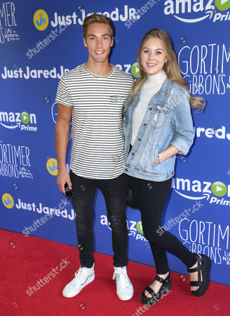 "Stock Image of Austin North and Lauren North attend Just Jared Jr.'s Fall Fun Day celebrating Season 2 of Amazon Prime's ""Gortimer Gibbon's Life on Normal Street"", in Los Angeles"