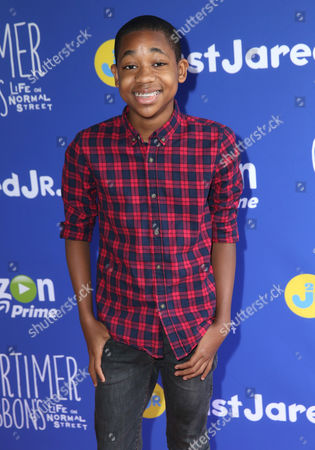 Stock Image of Tylen Jacob Williams attends Just Jared Jr.'s Fall Fun Day celebrating Season 2 of Amazon Prime's 'Gortimer Gibbon's Life on Normal Street', in Los Angeles