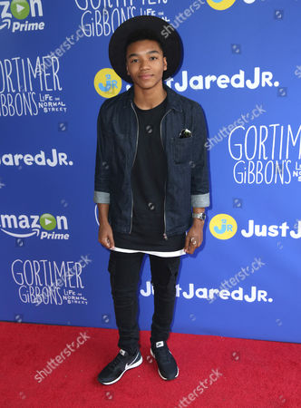 Stock Photo of Josh Levi attends Just Jared Jr.'s Fall Fun Day celebrating Season 2 of Amazon Prime's 'Gortimer Gibbon's Life on Normal Street', in Los Angeles