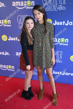 "Stock Picture of Chloe Csengery and Emma Fuhrmann attend Just Jared Jr.'s Fall Fun Day celebrating Season 2 of Amazon Prime's ""Gortimer Gibbon's Life on Normal Street"", in Los Angeles"