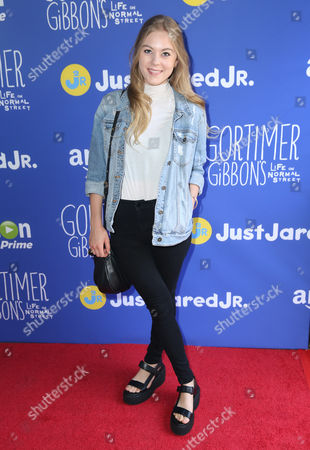 "Lauren North attends Just Jared Jr.'s Fall Fun Day celebrating Season 2 of Amazon Prime's ""Gortimer Gibbon's Life on Normal Street"", in Los Angeles"