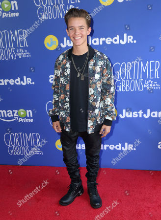 """Noah Urrea attends Just Jared Jr.'s Fall Fun Day celebrating Season 2 of Amazon Prime's """"Gortimer Gibbon's Life on Normal Street"""", in Los Angeles"""
