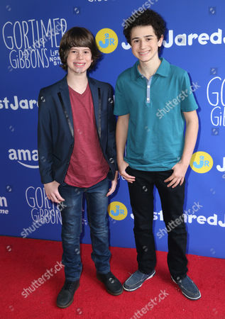 """Drew Justice and David Bloom attend Just Jared Jr.'s Fall Fun Day celebrating Season 2 of Amazon Prime's """"Gortimer Gibbon's Life on Normal Street"""", in Los Angeles"""