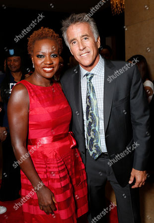 Viola Davis and Christopher Kennedy Lawford are seen at the LA Friendly House Luncheon on in Beverly Hills, Calif