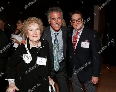 Peggy Albecht, Christopher Kennedy Lawford and Michael Hollingsworth are seen at the LA Friendly House Luncheon on in Beverly Hills, Calif