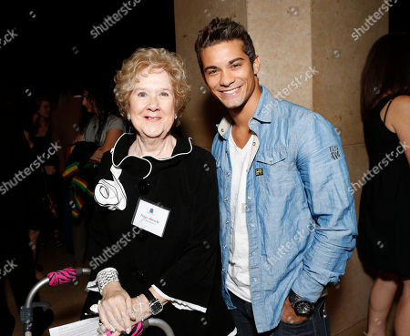 Peggy Albrecht and Hector David Jr. are seen at the LA Friendly House Luncheon on in Beverly Hills, Calif