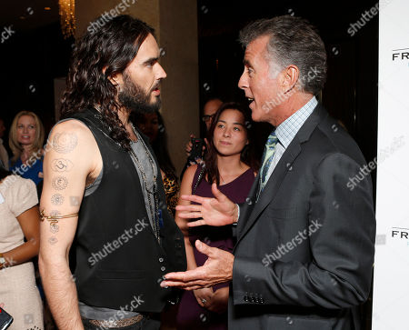 Russell Brand and Christopher Kennedy Lawford are seen at the LA Friendly House Luncheon on in Beverly Hills, Calif