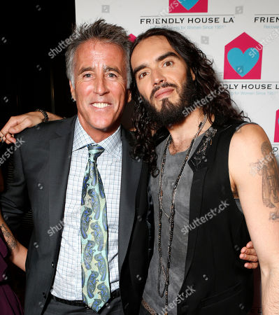 Christopher Kennedy Lawford and Russell Brand are seen at the LA Friendly House Luncheon on in Beverly Hills, Calif