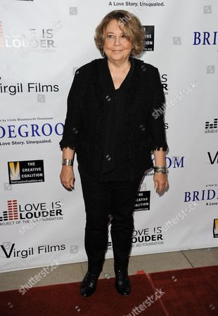 "Linda Bloodworth-Thomason arrives at the Premiere of ""Bridegroom"" at The Samuel Goldwyn Theatre on in Beverly Hills, Calif"