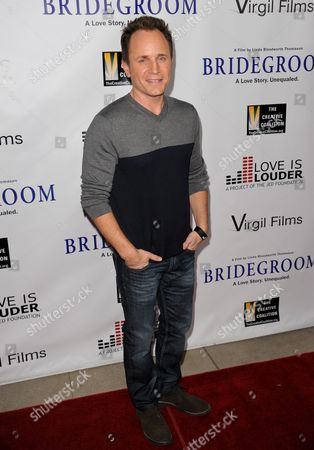 """Stock Image of David Yost arrives at the Premiere of """"Bridegroom"""" at The Samuel Goldwyn Theatre on in Beverly Hills, Calif"""