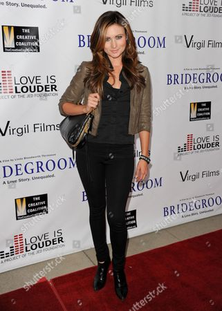 """Haviland Stillwell arrives at the Premiere of """"Bridegroom"""" at The Samuel Goldwyn Theatre on in Beverly Hills, Calif"""