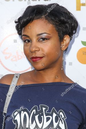 Aasha Davis attends the premiere of 'Digging for Fire' at the Arclight Cinema on in Los Angeles