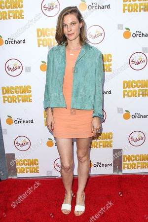 Lindsay Burdge attends the premiere of 'Digging for Fire' at the Arclight Cinema on in Los Angeles