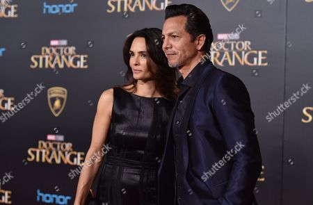 """Talisa Soto, left, and Benjamin Bratt arrive at the Los Angeles premiere of """"Doctor Strange"""" at the TCL Chinese Theatre on"""