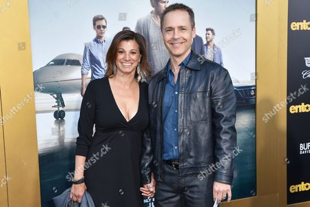 "Kim Painter, left and Chad Lowe arrives at the LA Premiere Of ""Entourage"" at the Regency Village Theatre, in Los Angeles"